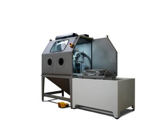 Manual Wet Blasting machine for a very fine surface finishing process