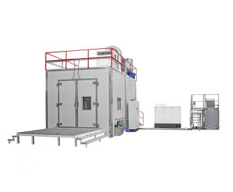 Water jet cabine - Decontamination of radiological wastes