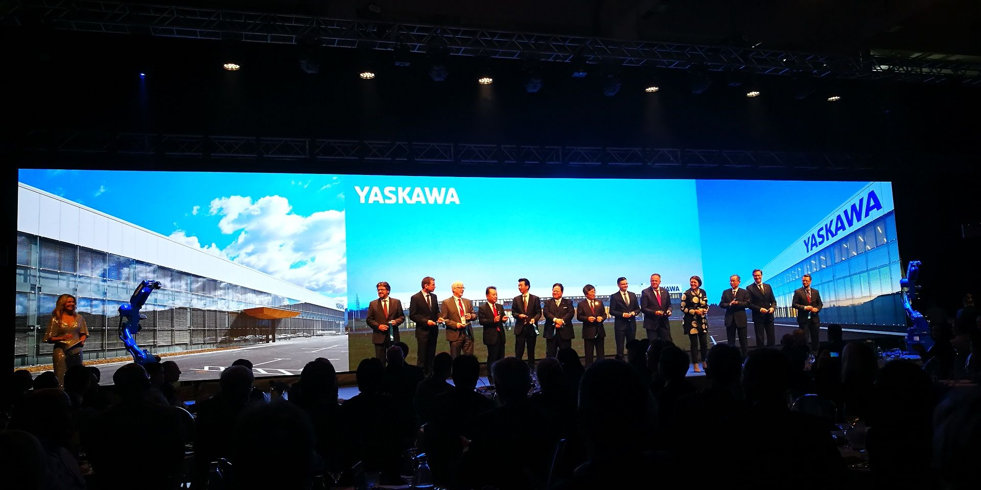 The opening of the new Yaskawa factory in Slovenia